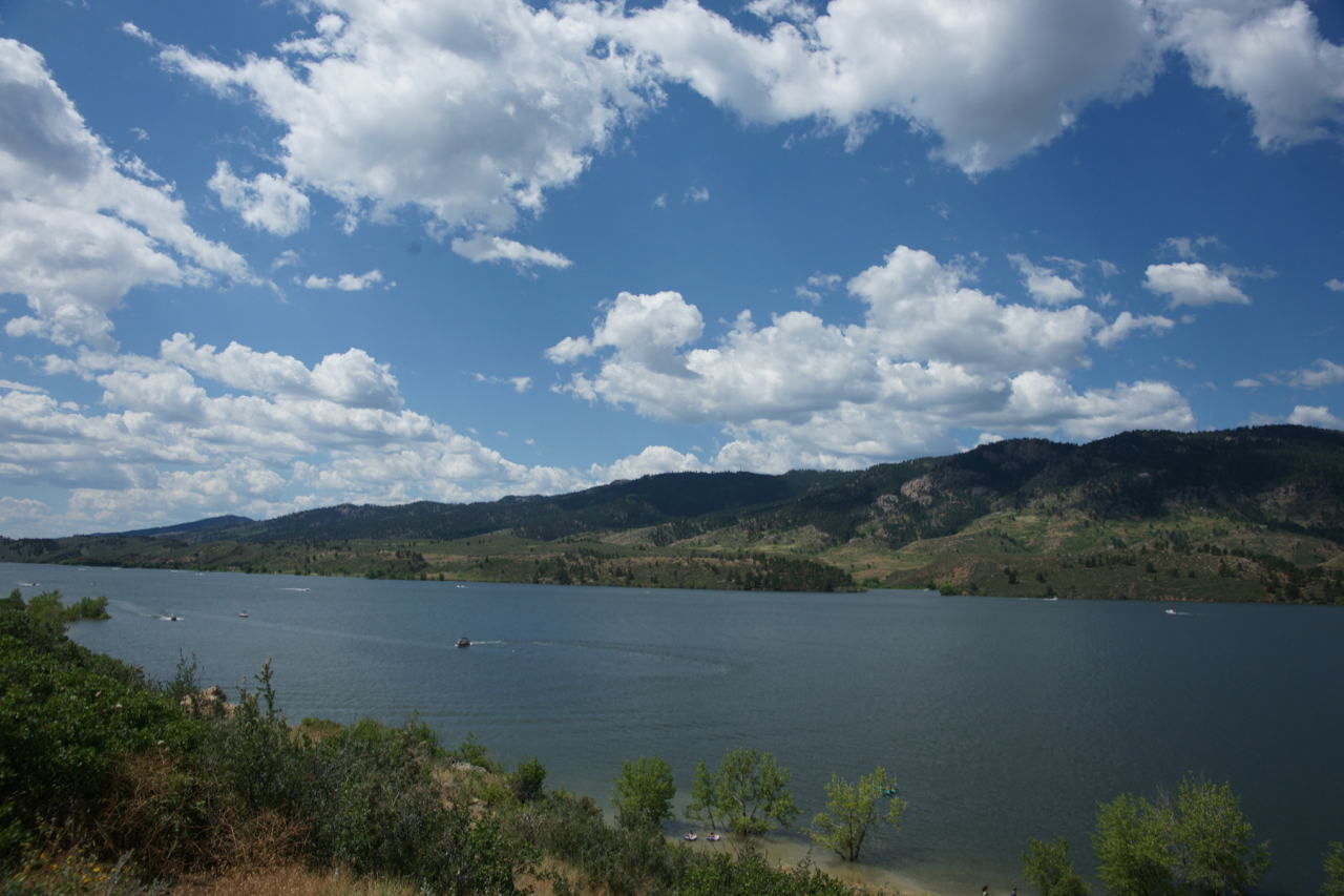 Horsetooth Reservoir in Fort Collins, Colorado.