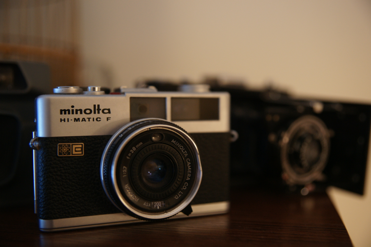 One of my vintage cameras I kept from my grandpa's collection. It's a family thing.
