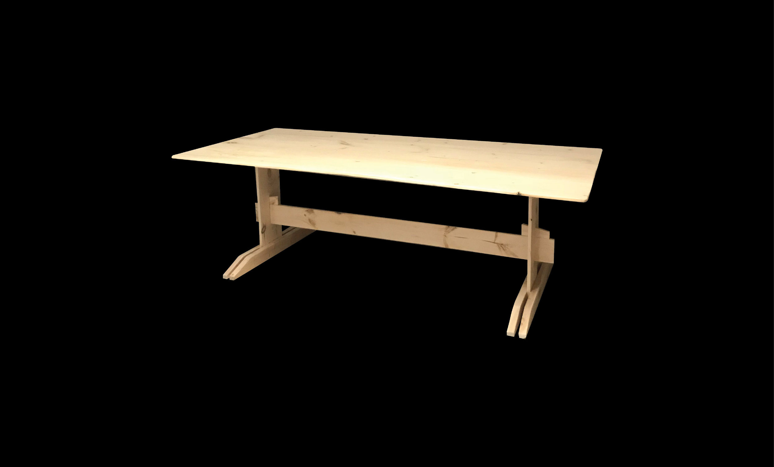 "Dining Table (Set of 3), 48"" x 30"" x 72"", Pine, 2018"