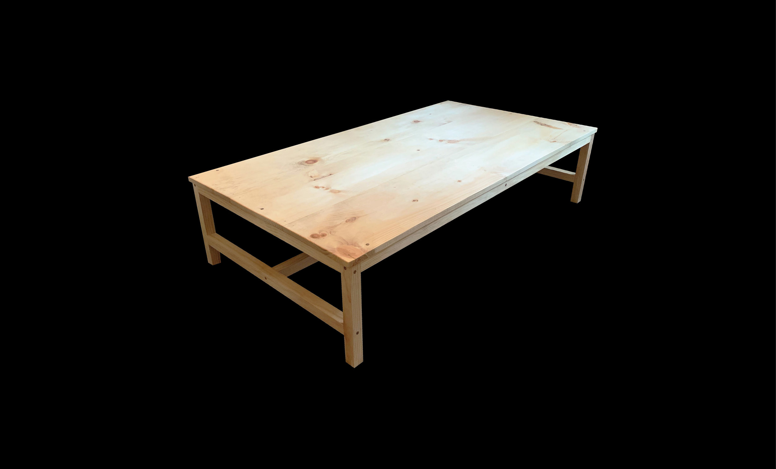 "Coffee Table, 60"" x 36"" x 14"", Pine, 2019"
