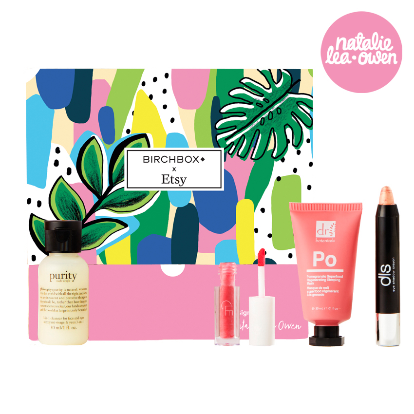 BIRCHBOX   This design was for the Etsy and Birchbox Partnership through the month of August 2018 and thousands of my Birchbox were sent out to subscribers.
