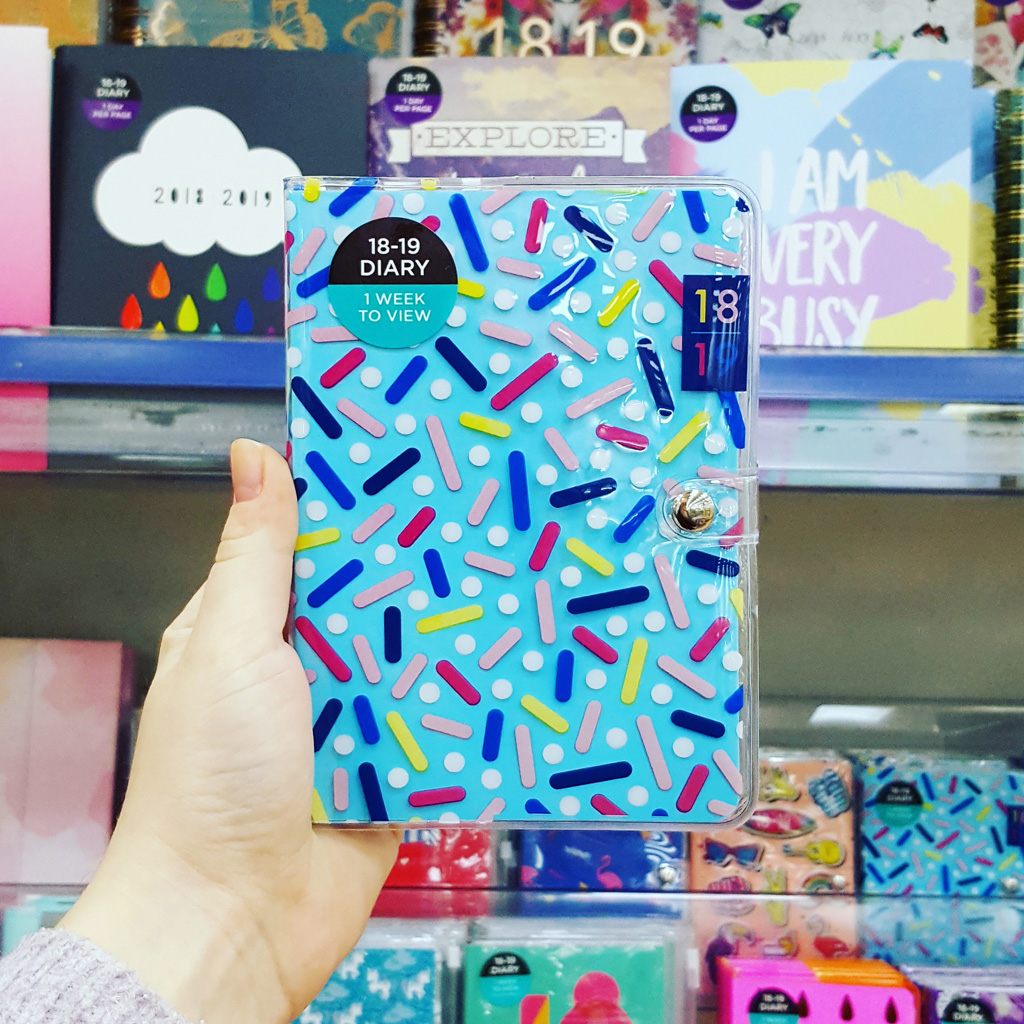 WHSMITH   My Sprinkles print can be found in WHSmith shops nationwide on these cute little A6 Academic Diaries.