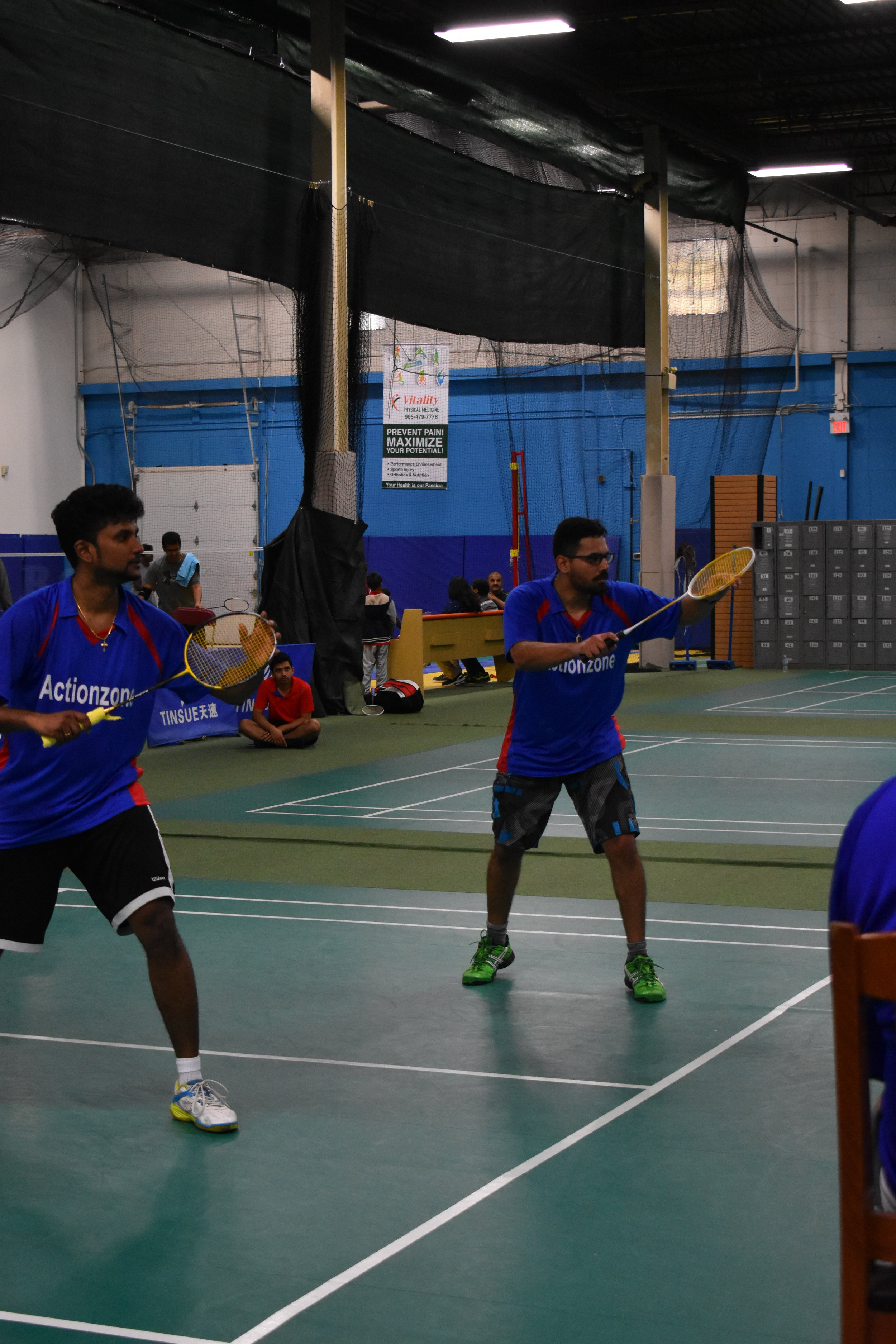 Champions of Actionzone Badminton Tournament