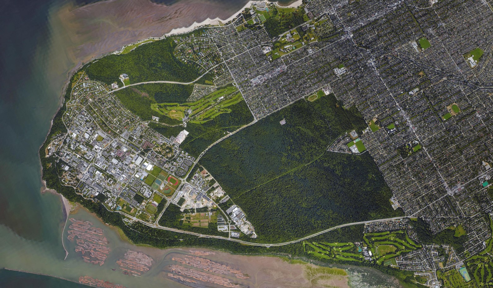 AERIAL VIEW OF POINT GREY CAMPUS TODAY