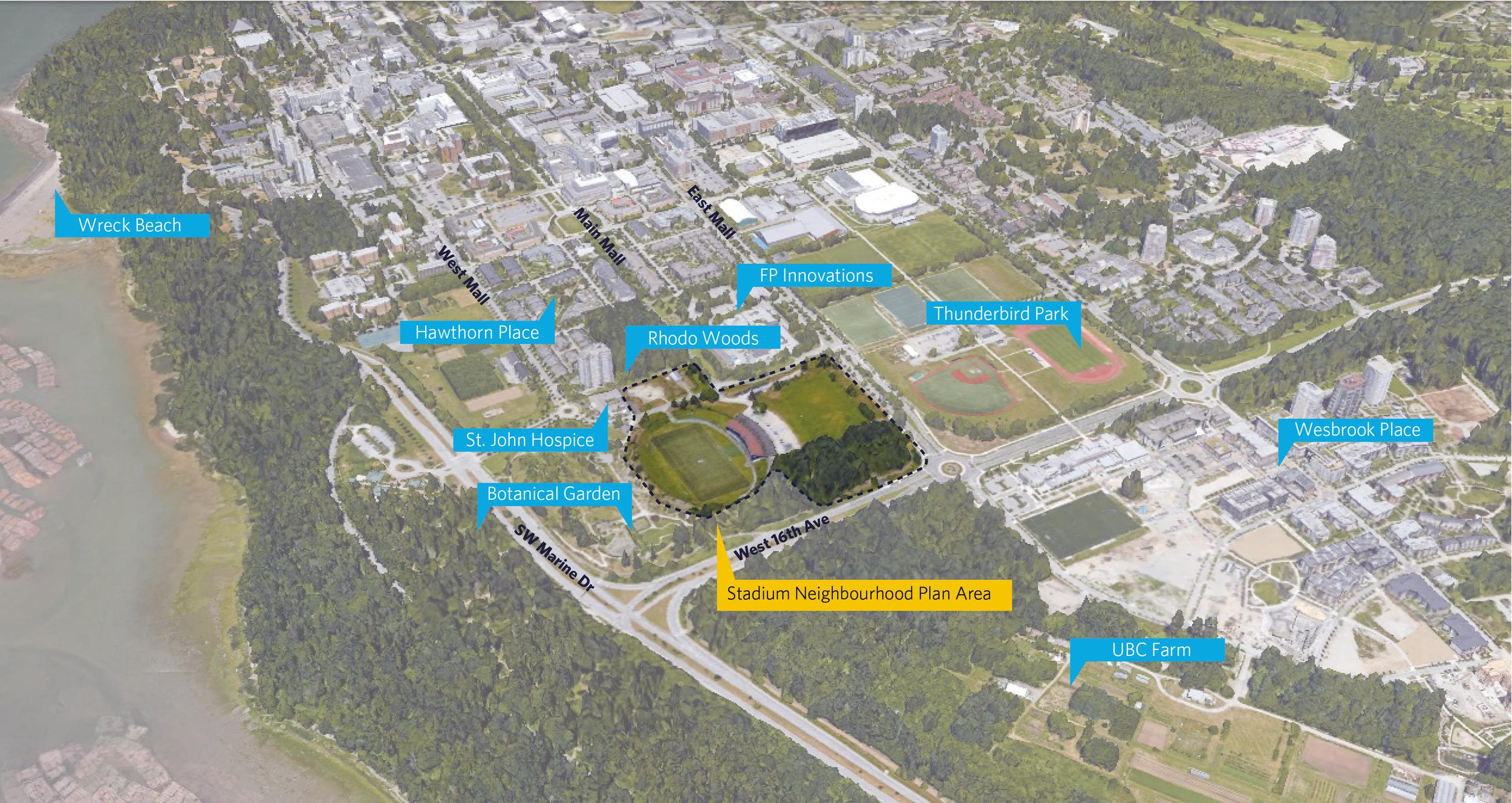 The Stadium Neighbourhood Plan area and adjacencies