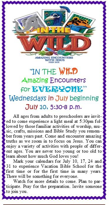 - Vacation Bible School at Deer Park Baptist Church 2019