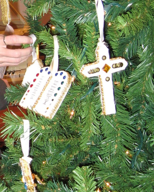 Hanging of the Green - Hanging of the Green is when the congregation adorns the church with Advent and Christmas decorations. This is the start of the Advent season, in preparation for Christmastide. The service involves the placement of evergreen vegetation in the church. The evergreen tree is decorated with Chrismons which carry the religious symbolism of everlasting life,