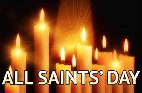 All Saints Day - On all Saints Day we celebrates the lives of all Christians and our members who have died in the past year. A candle is lit for each member to represent their ascension into Heaven.