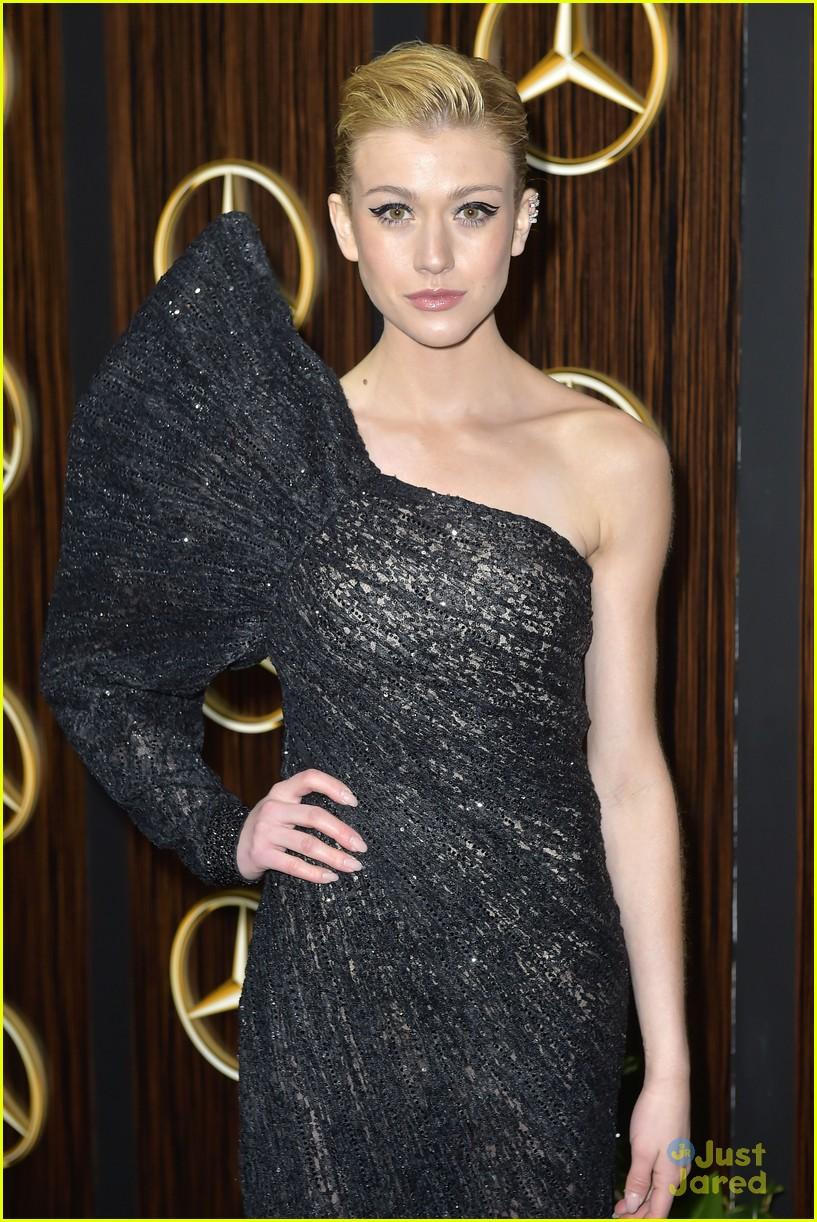 KATHERIN MCNAMARA - Katherine McNamara Was Fashionable & Fierce at Mercedes-Benz USA Awards Viewing Party For The Oscars