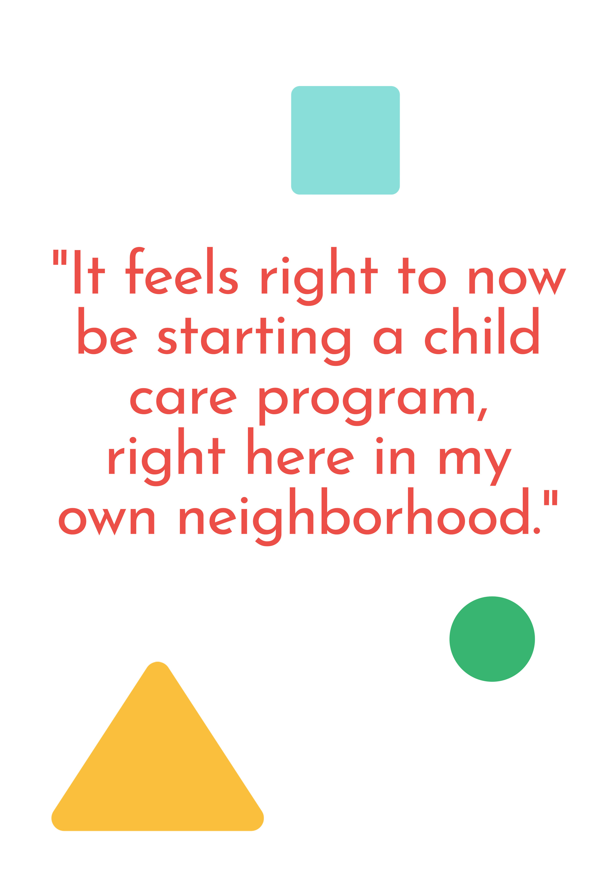 """""""It feels right to now be starting a child care program, right here in my own neighborhood."""" says Ms. Jennifer about opening a home daycare in Haverhill, MA."""