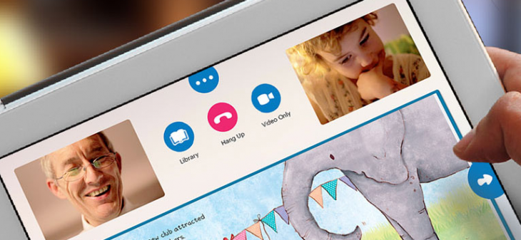 1. Virtual play dates (free): If your toddler is getting restless or missing their friends or family, open up a video chat app to bring that loved one into your home. Facetime and Google Hangouts are great for casual video calls, and you can leave it open for hours to feel like you're in the same room. Caribu , a virtual play date app for family (currently free), can also let your child's grandparents read from a library of popular titles.