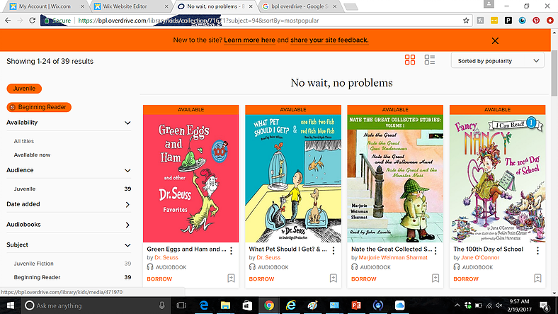 3. Audiobooks for kids from the Boston Public Library (free): B+ Boston's Leslie Pearlson says