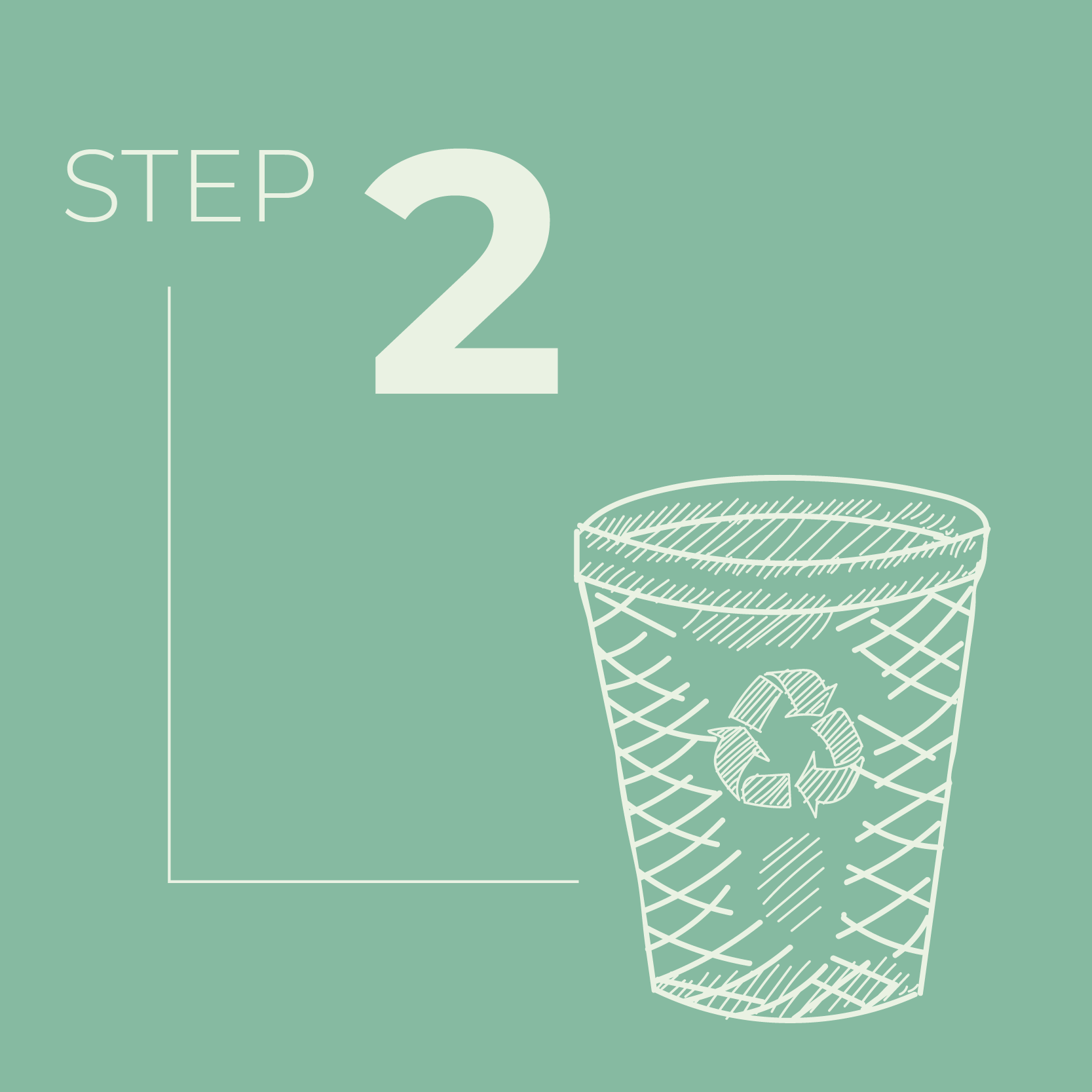 Receive your labeled compost container and start filling it up with food and other compostable material.
