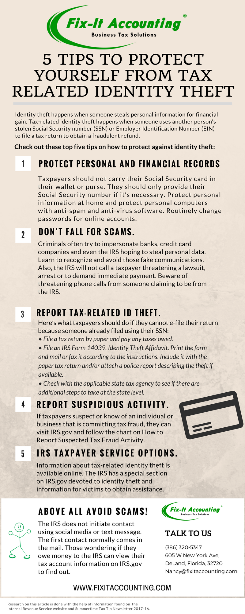 Identity theft info graphic