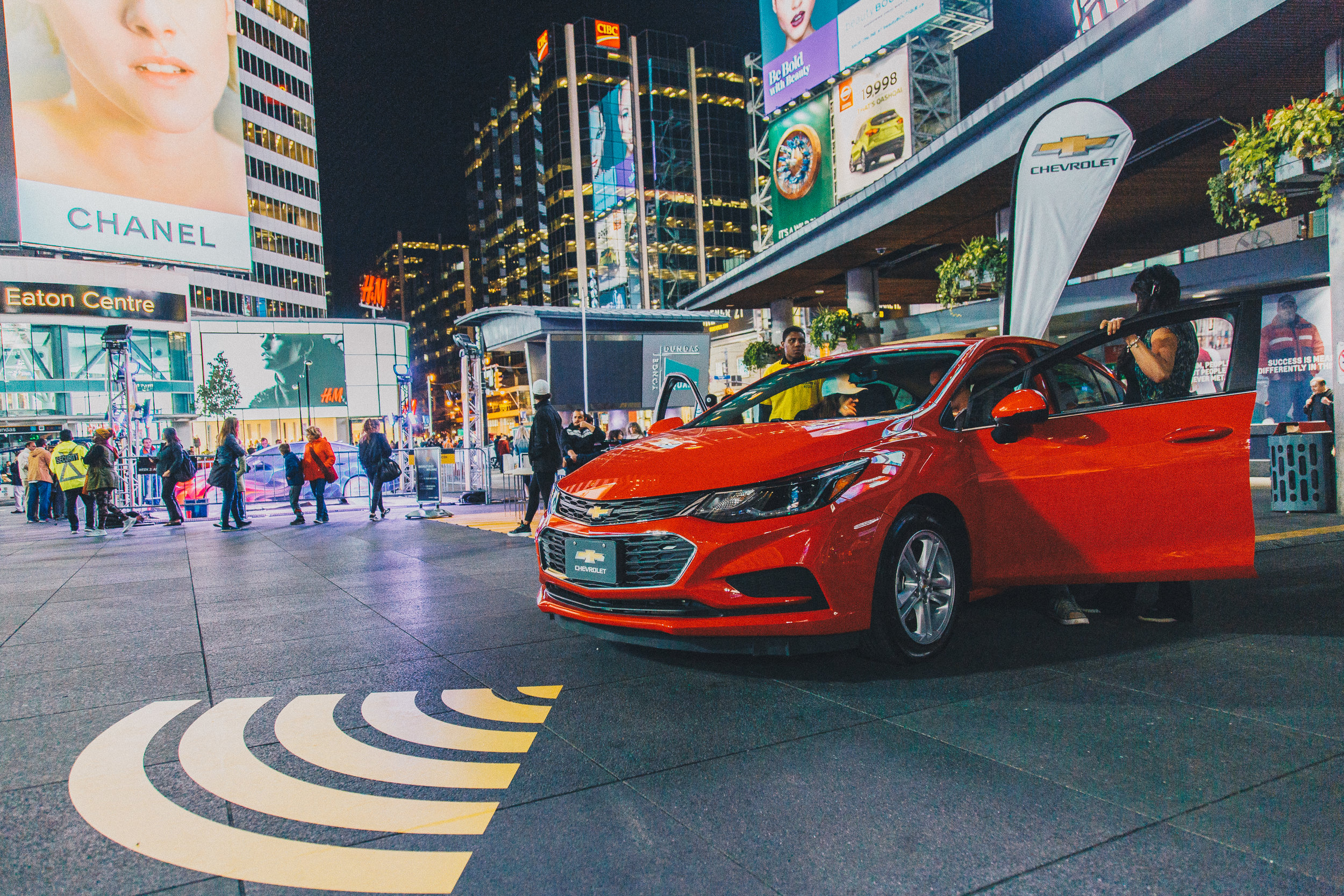 Yonge-Dundas Square is sponsored by Chevrolet