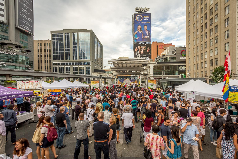 Pan American Food Festival at Yonge-Dundas Square