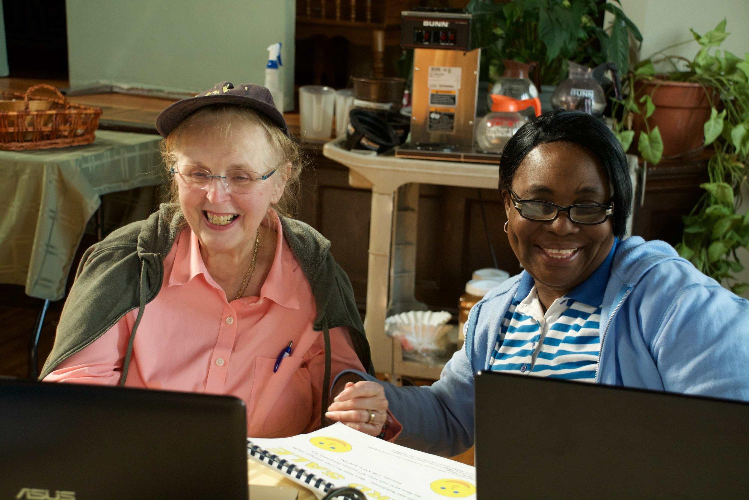 Jean and Ruth enjoying class copy.jpg