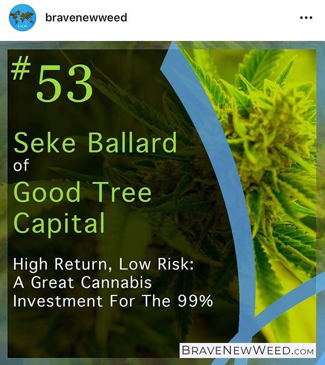 Listen to our founder Seke Ballard on the @bravenewweed podcast! Great dialogue about our business and how we're shaping financial services for the cannabis industry.  https://podcasts.apple.com/us/podcast/episode-53-high-return-low-risk-great-cannabis-investment/id1228461096?i=1000437582761  #innovation #fintech #bravenewweed #cannabiscommunity #cannabusiness #marijuana #GoodTreeCapital #diversityandinclusion #socialequity #investing # #smallbusiness #marijuanaindustry #cannabisindustry #cannabisculture  #afrotech #lending