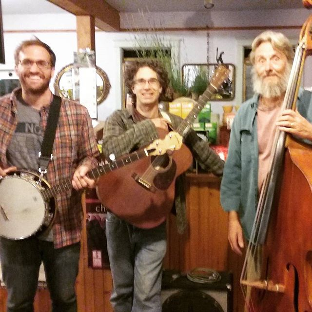 Finally got my boss John to break out the ole dog house bass!  Good Earth Farm band debut tomorrow at the Harvest Festival!
