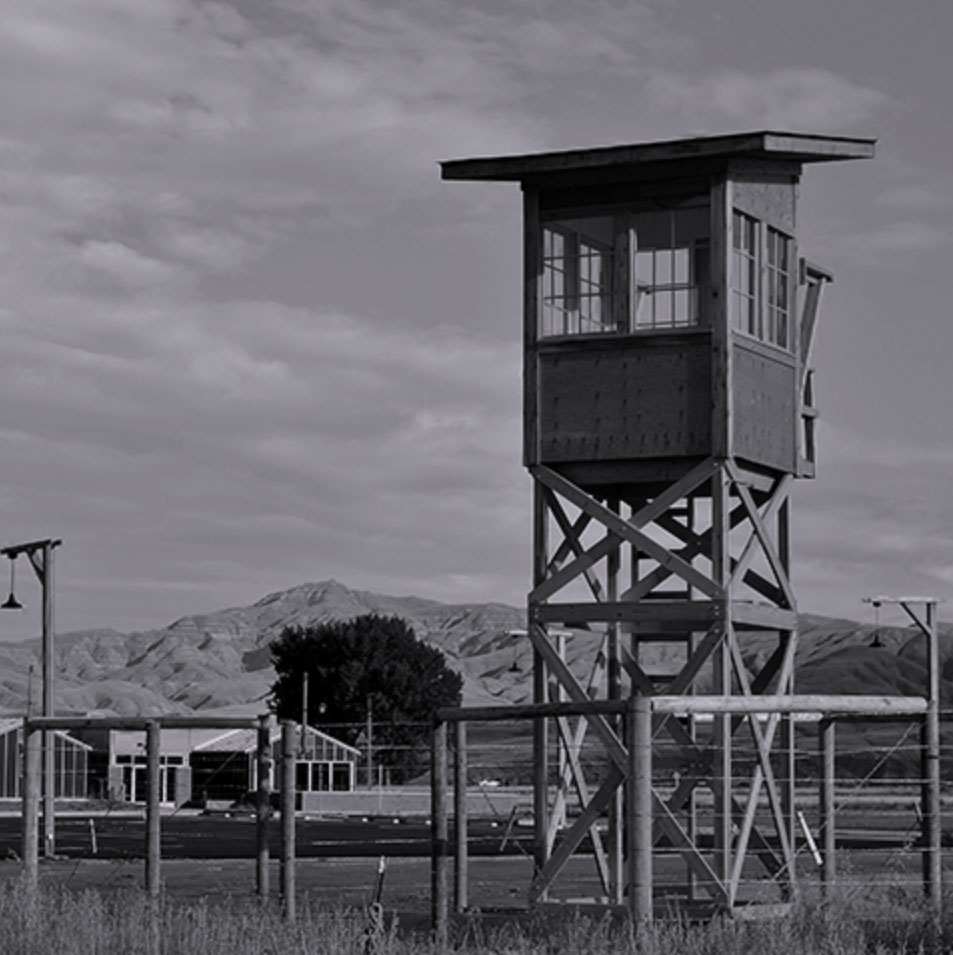 guard towers around the camp -