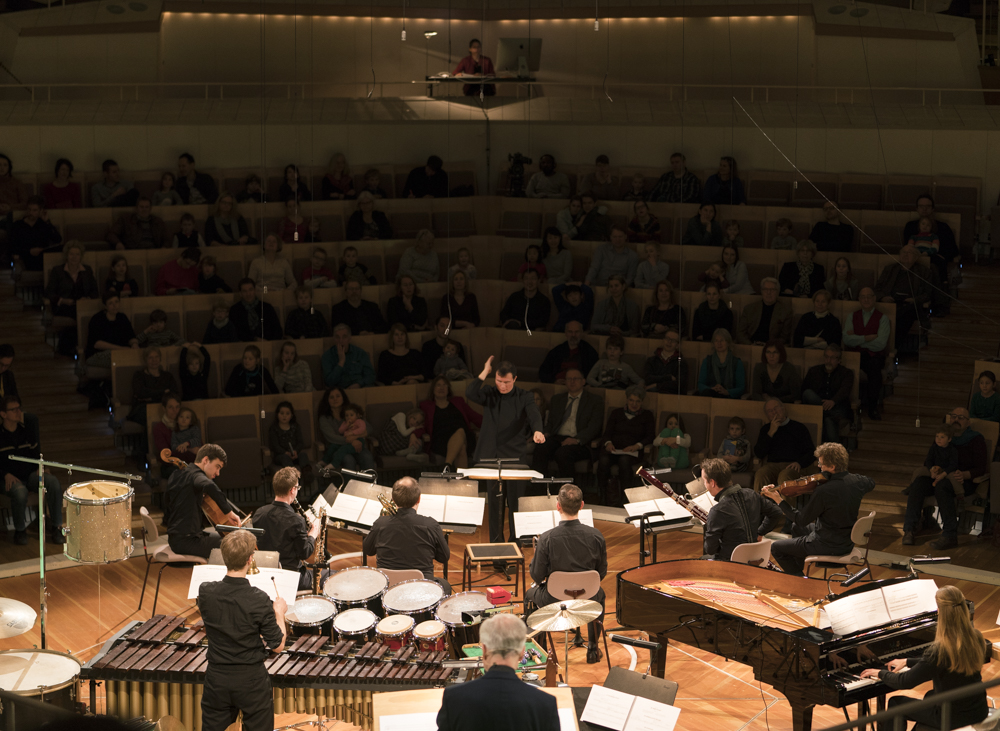Stanley Dodds conducting the complete work in the original scoring, with the Berliner Philharmoniker. Photo: Kai Beinert