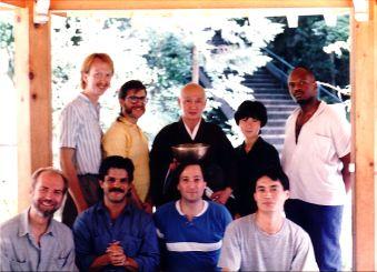 Ensemble in Hiroshima, Japan, at Mitakidera with host Rev. Satoh and translator Naomi Itoh