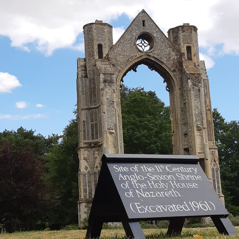 Remains of Abbey Arch and the site of the Holy House of Nazareth in Walsingham, taken during modern pilgrimage. Photo courtesy of John Paul Meenan.