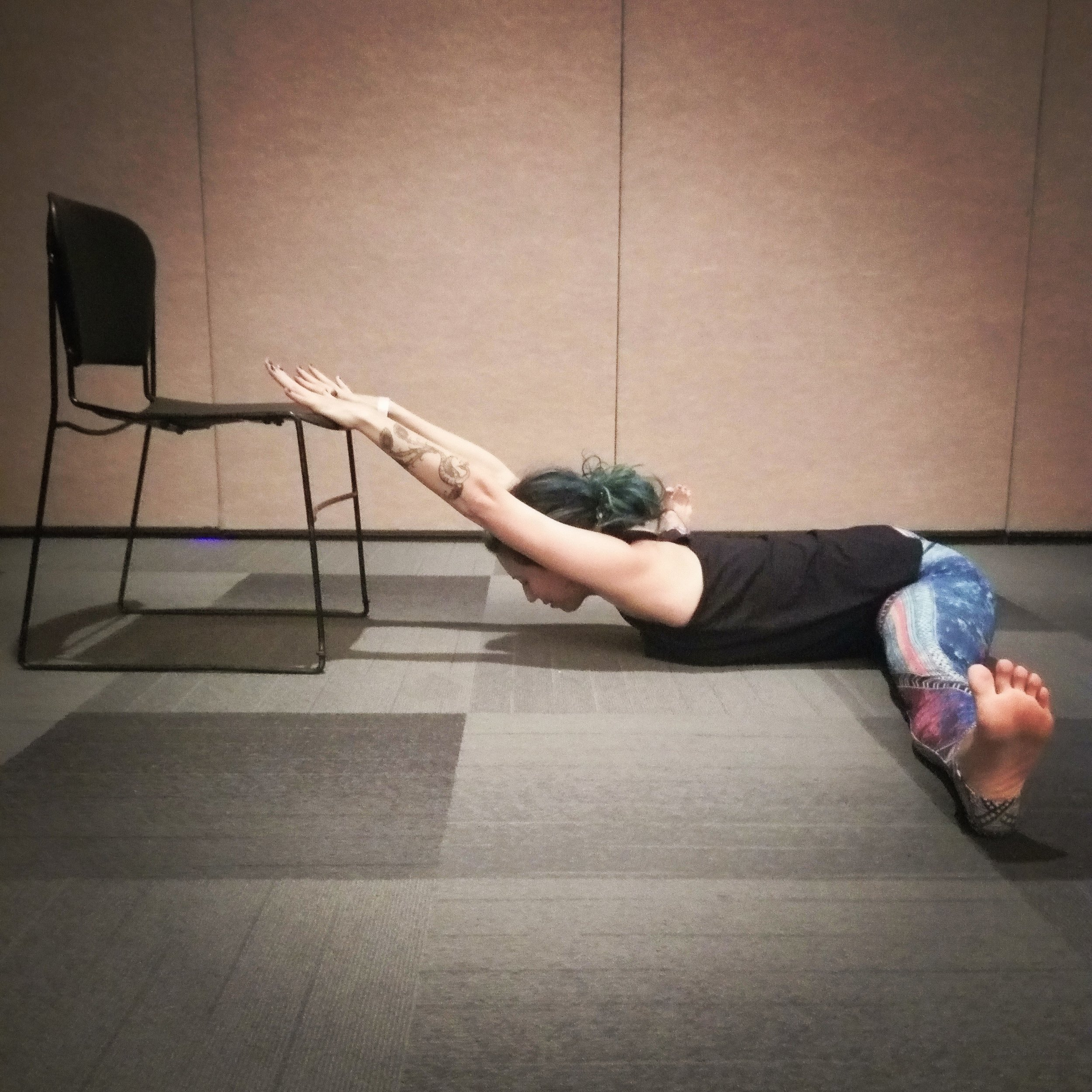 Chair Yoga at the Cosmic Yogi Festival