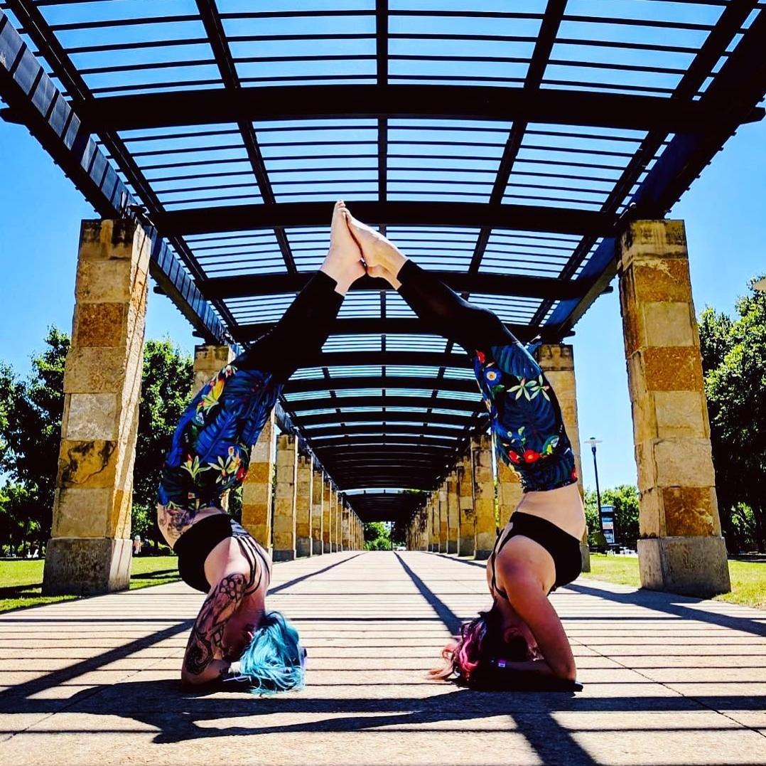 Partner Yoga at the Cosmic Yogi Festival