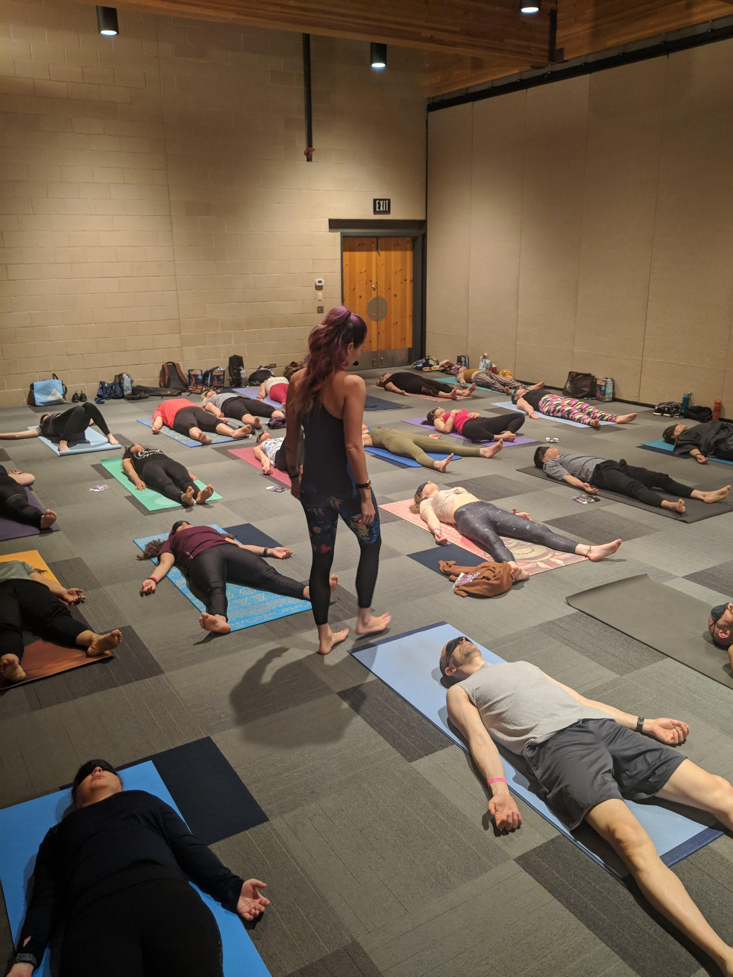 Blindfold Yoga at the Cosmic Yogi Festival