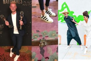 Some days/most days: Bobby Berk, Kelly Wearstler and Niya Bascom of ishka Designs all wear kicks. (photos from their Instagrams)
