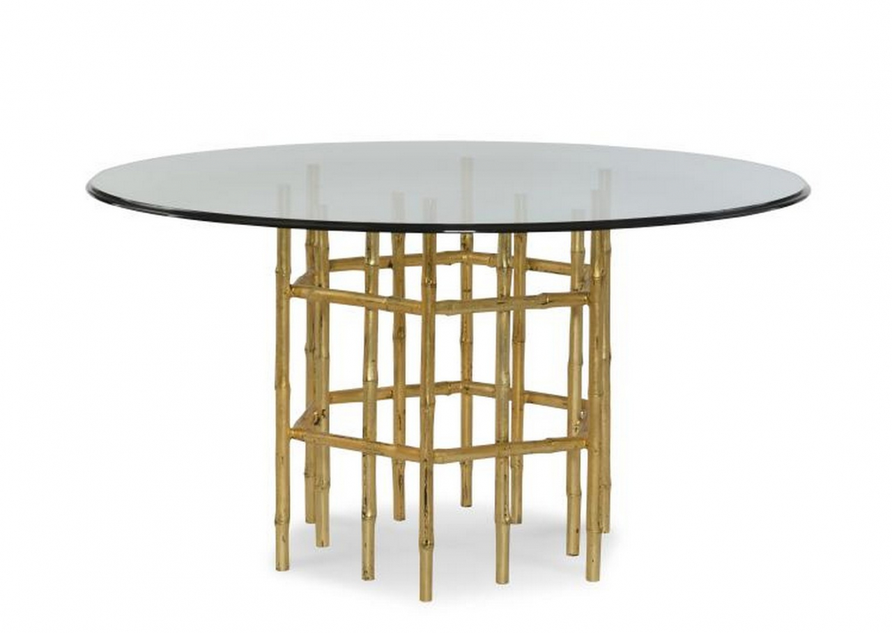 CENTURY Jasper Dining Table with Tempered Glass Top