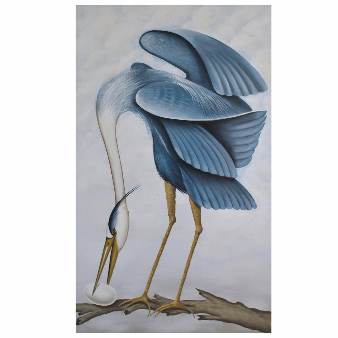 KRAVET Heron Painting 2