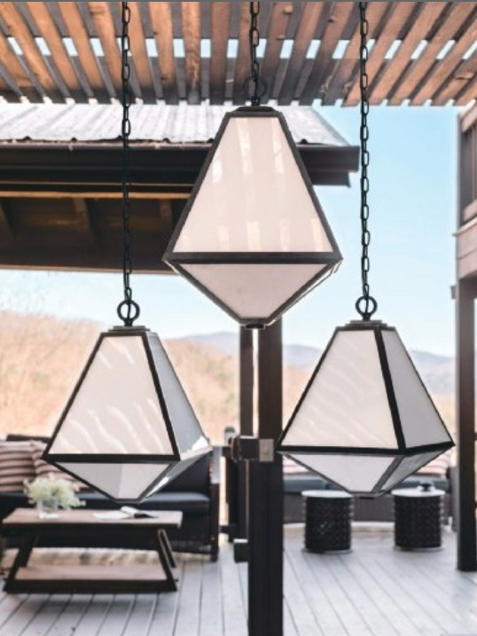 CRYSTORAMA   Brian Patrick Flynn for Glacier 3-Light Outdoor Chandelier