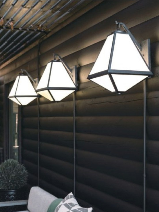 CRYSTORAMA   Bryan Patrick Flynn for Glacier 3-Light Outdoor Wall Mount