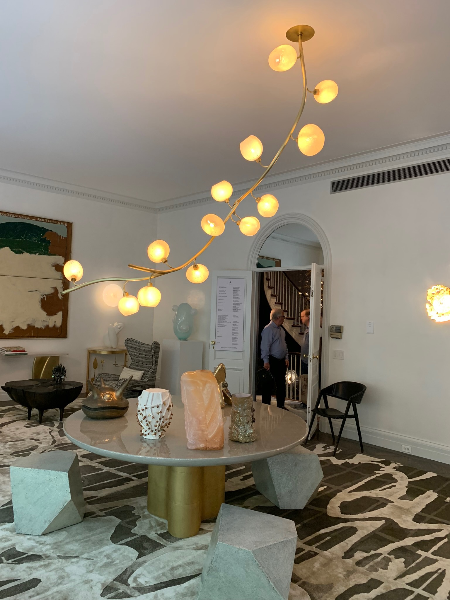 "Jeff Zimmerman ""Vine"" Illuminated Sculpture by  R & Company  in  Jeff Lincoln Art + Design's  Main Living Room."