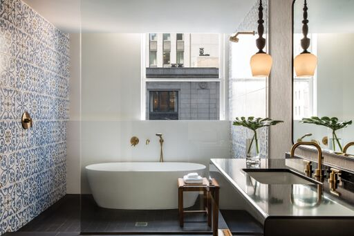 MTI BATHS ELENA FREESTANDING TUB    Beleco Design  for  The Gray  Chicago (Kimpton)