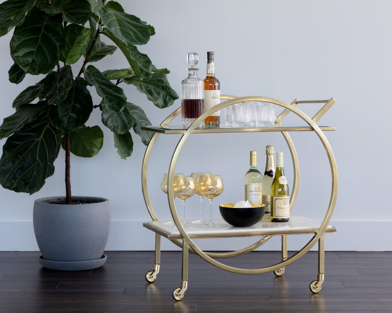 Artemis Bar Cart  by Sunpan Modern Home