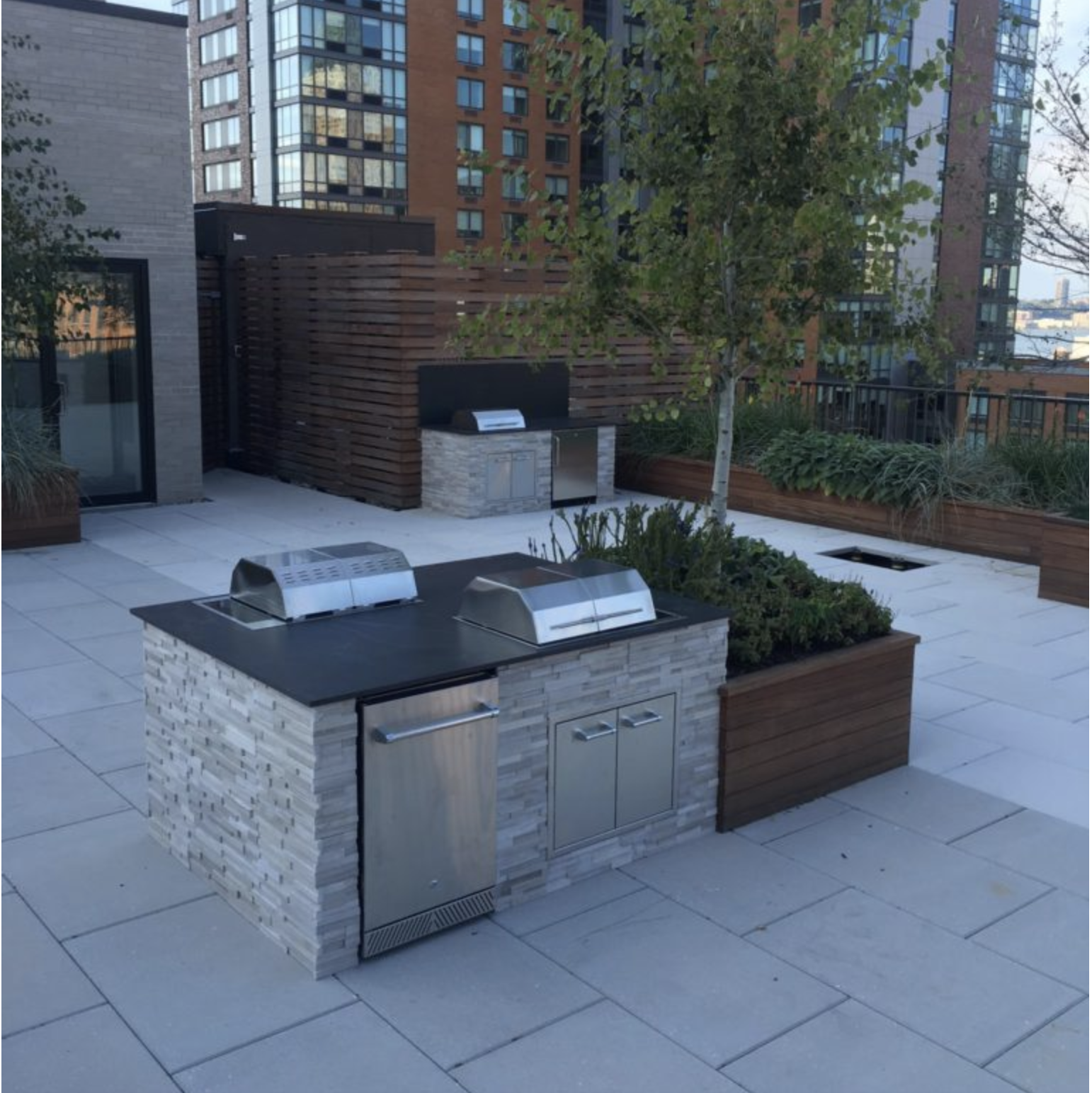 Kenyon electric indoor/outdoor electric grills  are the perfect urban rooftop solution.