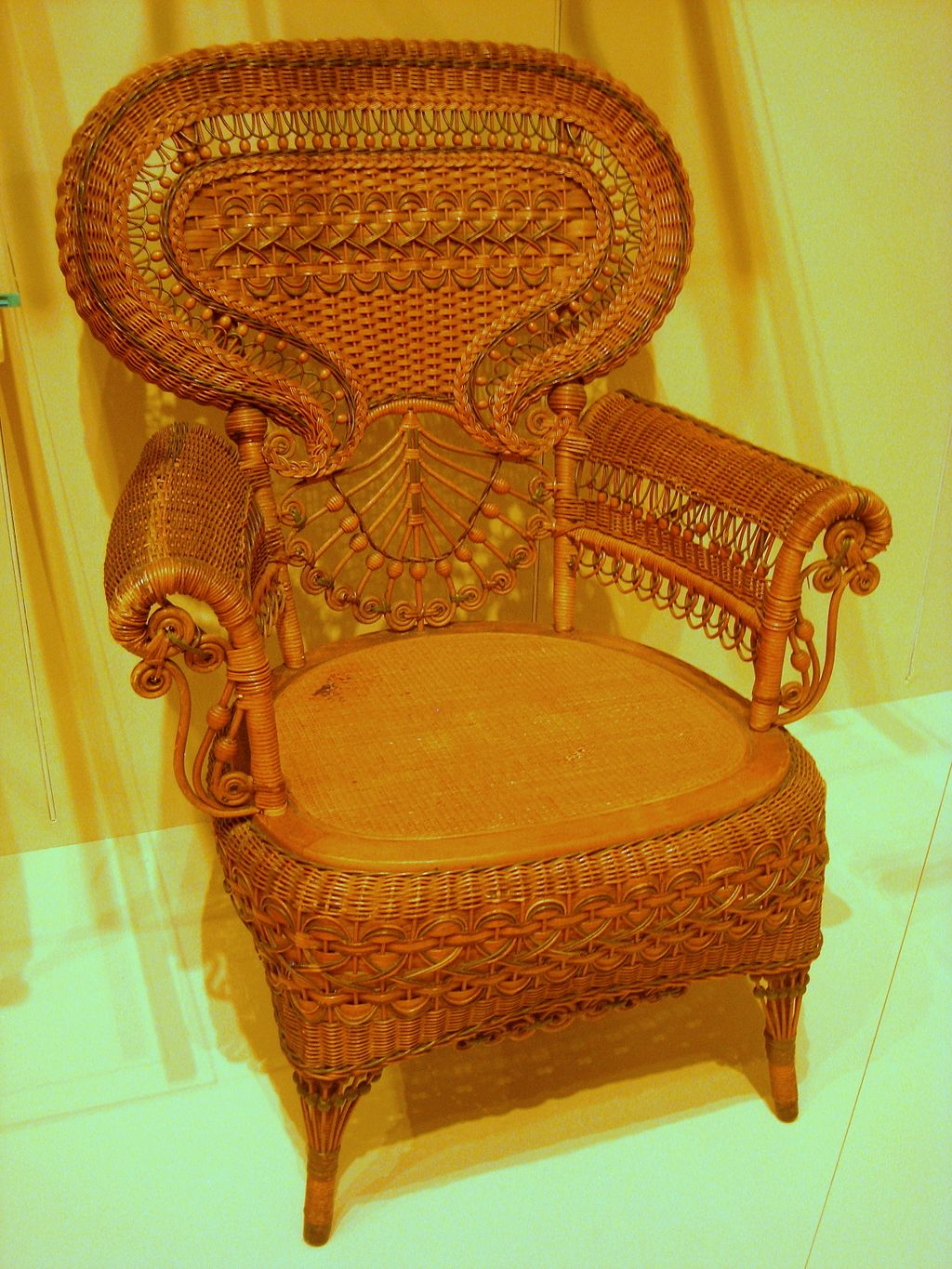 A Heywood Brother's Armchair c.1885. This was the Victorian version of easy-breezy/casual.