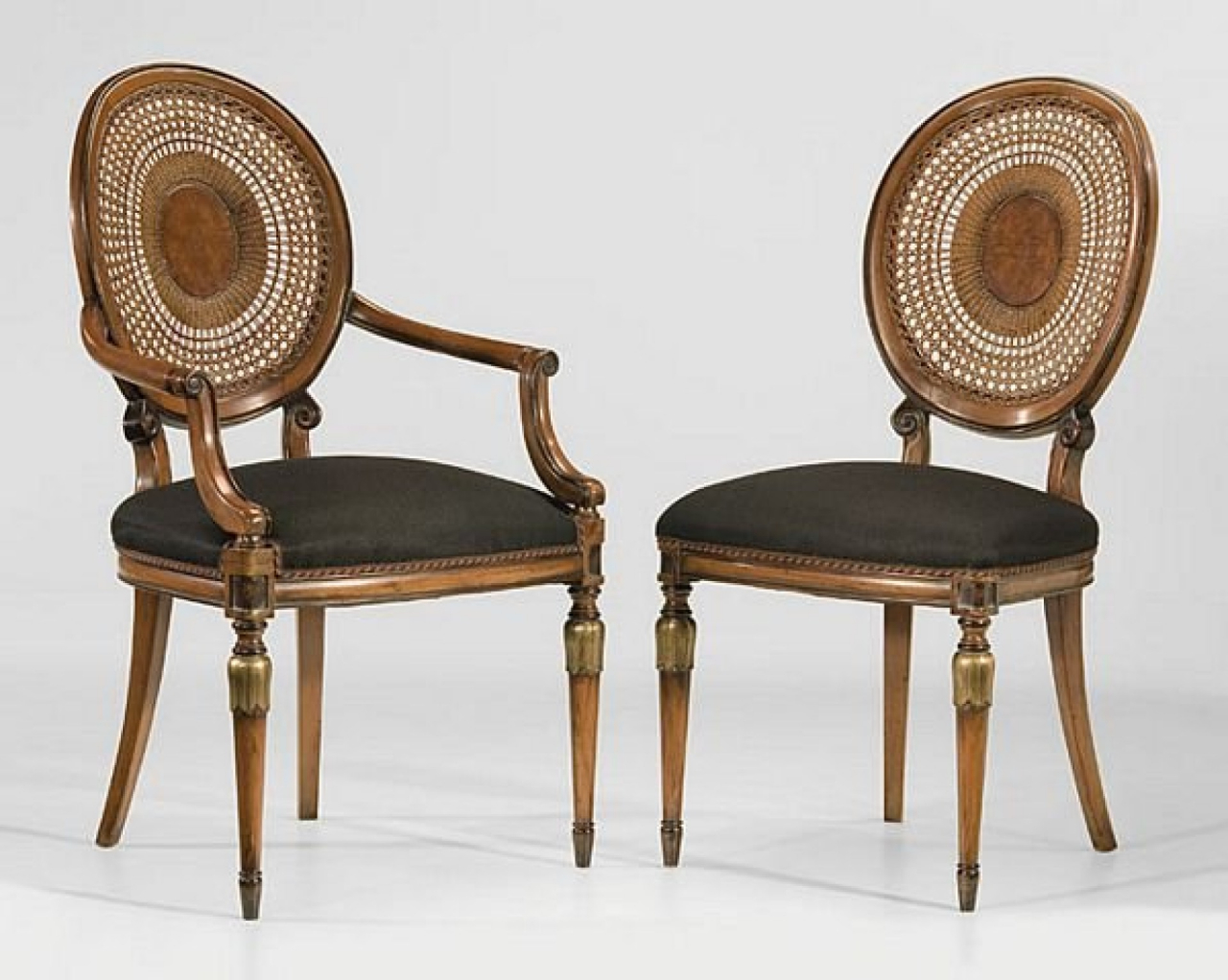 Louis XVI Dining Chairs with French Hand Caning  by Decorative Crafts
