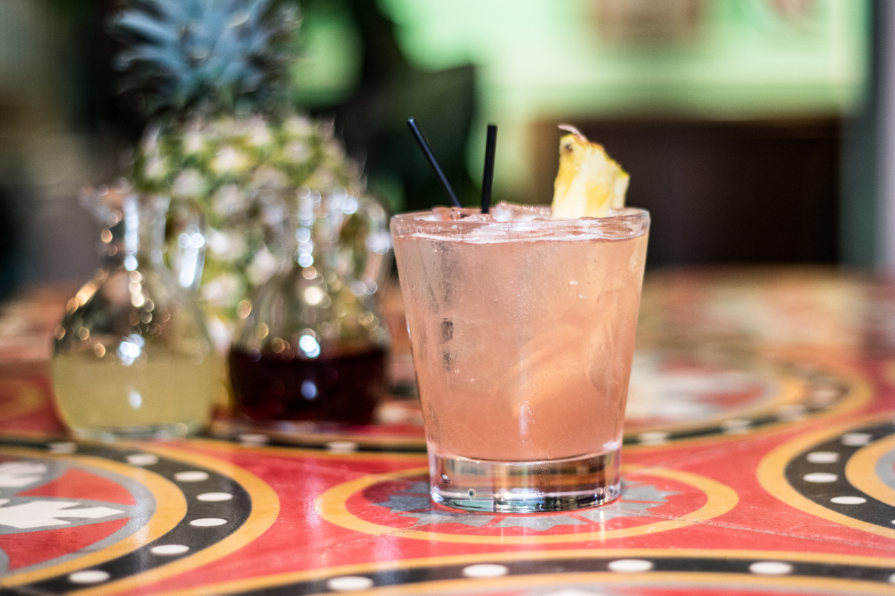 BEACH LIFE - 2 oz. Big 5 Coconut1 oz. Cranberry1 oz. Pineapple Juice½ oz Fresh Lime Juice1½ oz. Ginger BeerMethod: build the first four ingredients in a mixing glass and shake to combine, Strain into a highball or Collins glass filled with fresh ice and top with ginger beer.