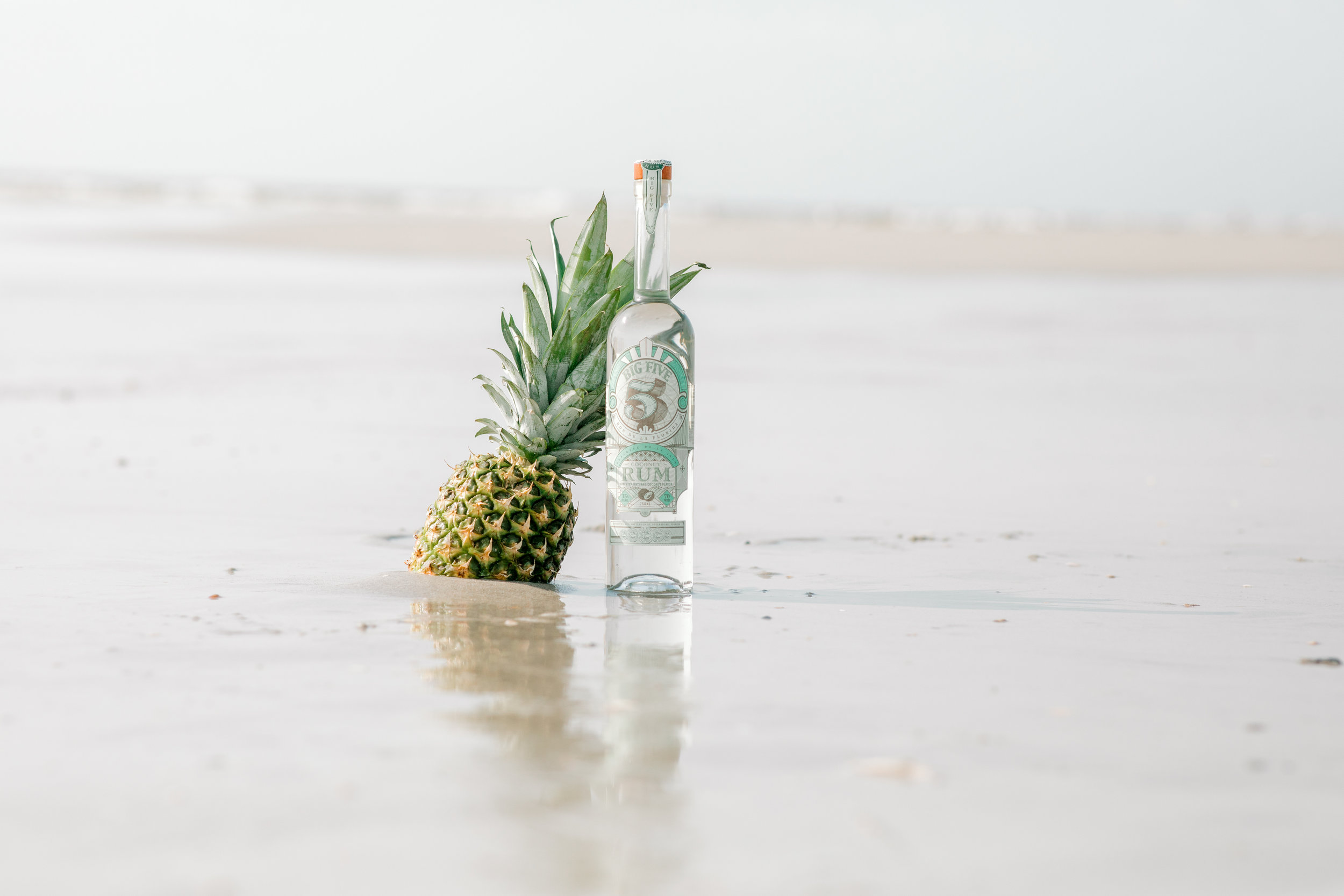 Big 5 Coconut - Big 5 Coconut Rum is smooth and fresh on the palate with a touch of sweetness. Made with all-natural coconut flavor, pour over ice. This rum brings you to the beaches of Miami or the rooftop bars of Havana, Cuba. ¡dale!