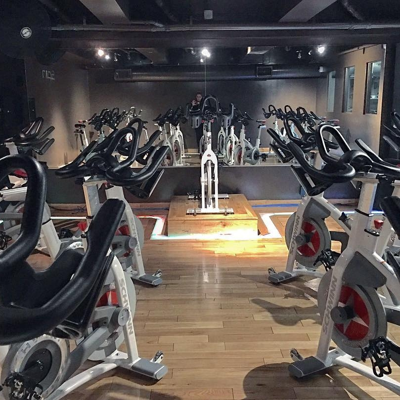 Spin - Intense cardio training.Tempo, sprint, rolling hills, and mountain climbs designed to work your aerobic and anaerobic thresholds while focusing on maintaining a challenging pace and resistance on hills. This interval class is sure to burn up those calories.