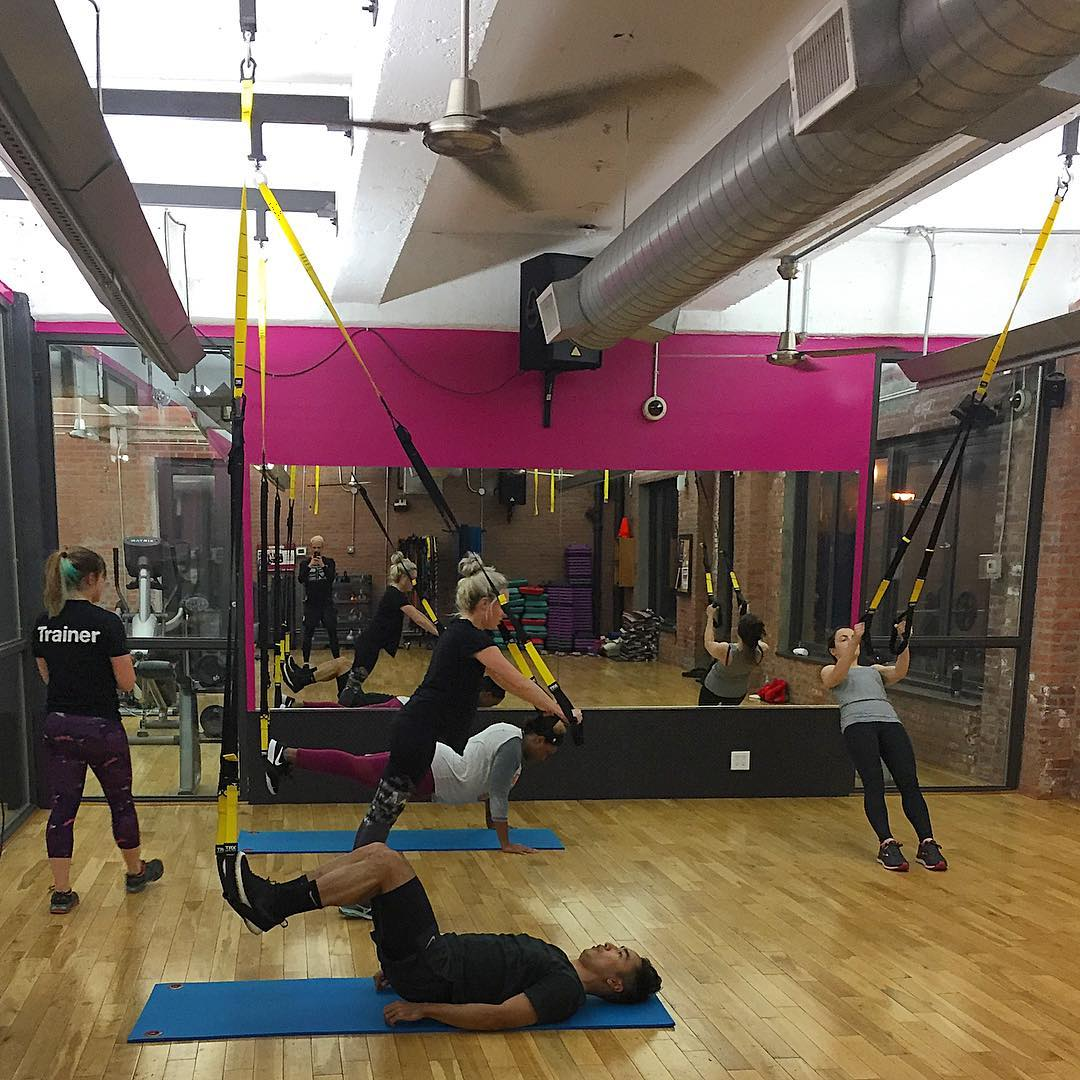 Bootcamp X - This hybrid class is stems from our classic Bootcamp format, with some 'X-tra' moves and equipment usage. Suitable for all fitness levels as stations can be modified for high or low impact needs.