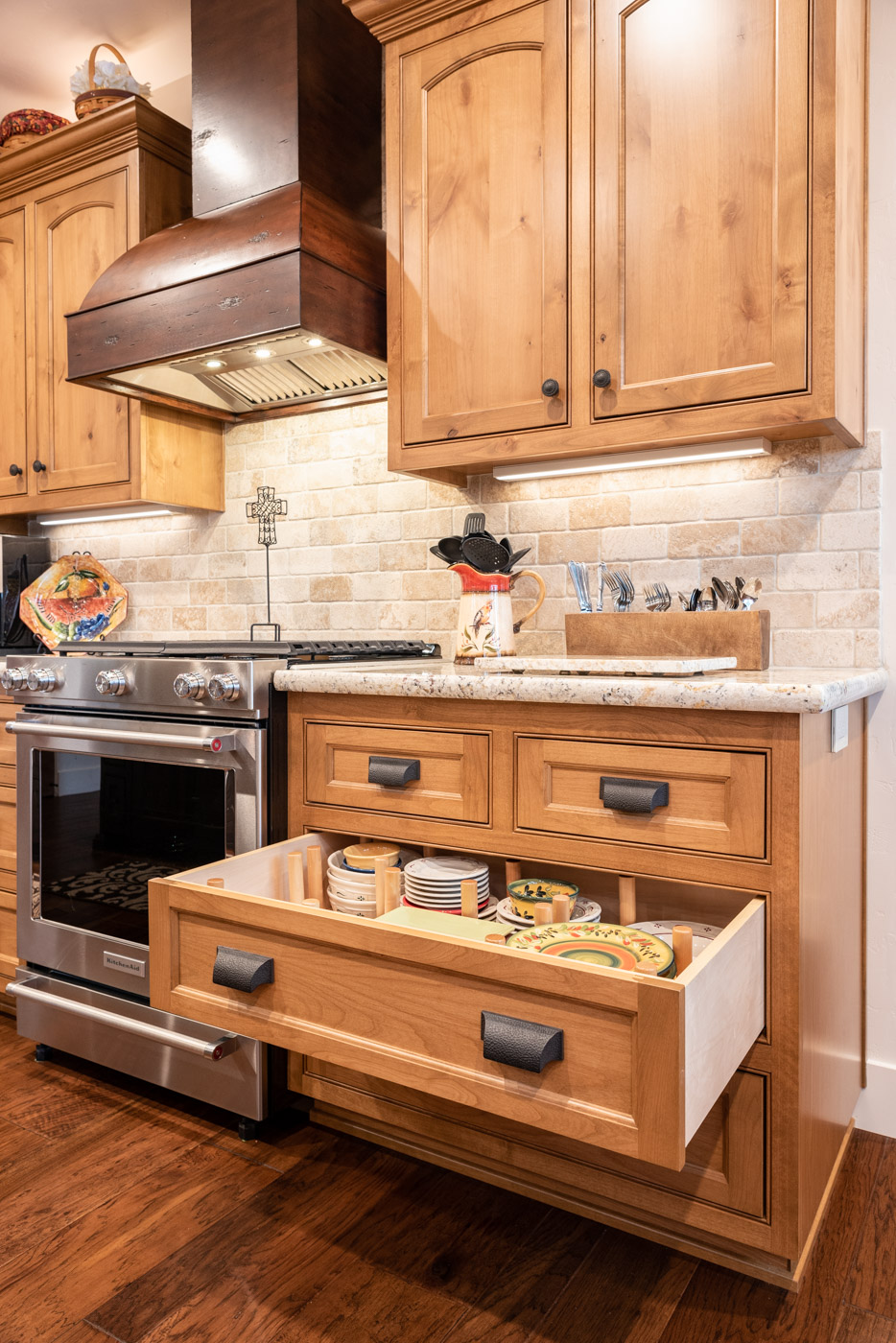 Tuscan Artisan Custom Kitchen And Bathroom Cabinets In Atascadero