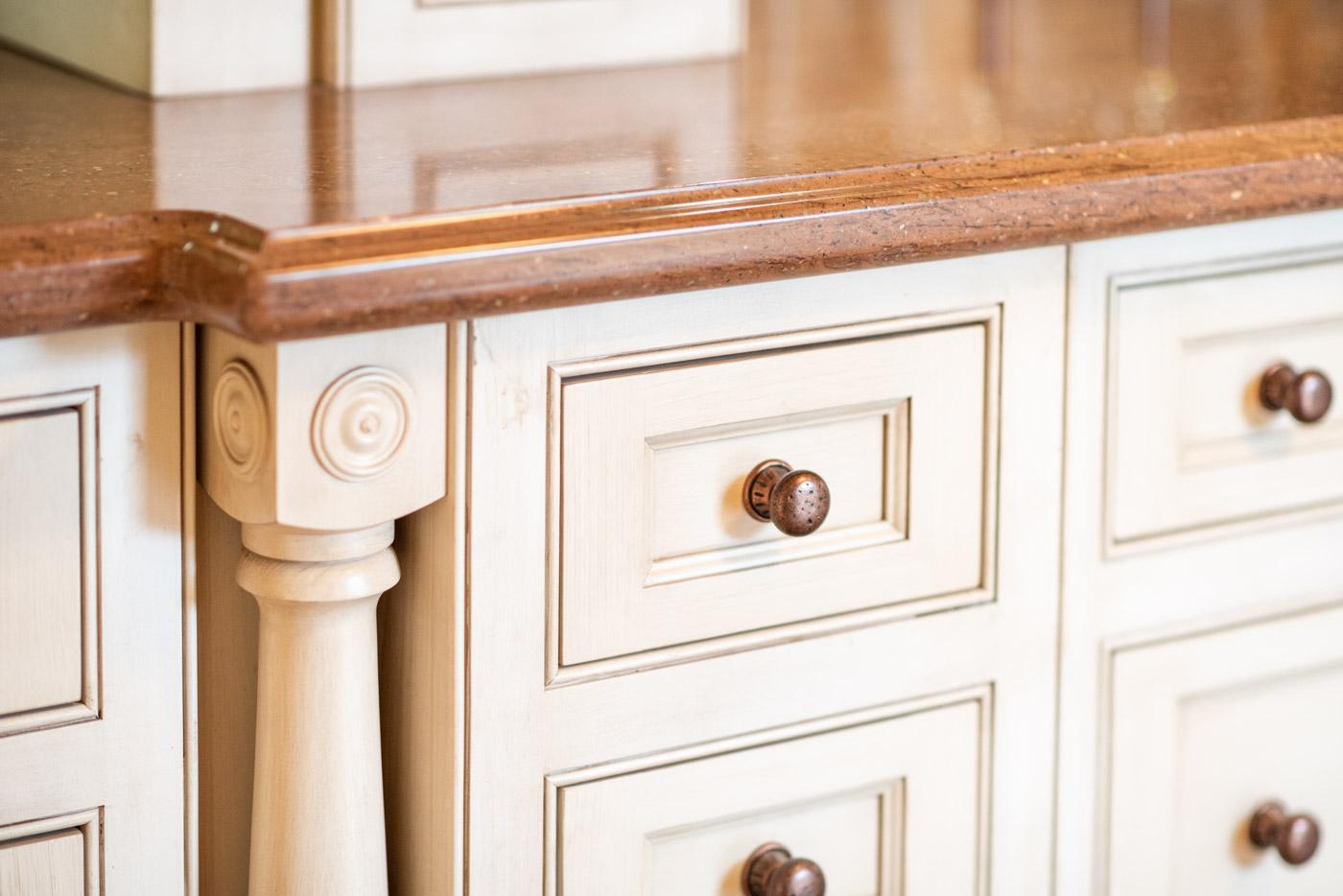 Small bone flush inset cabinet