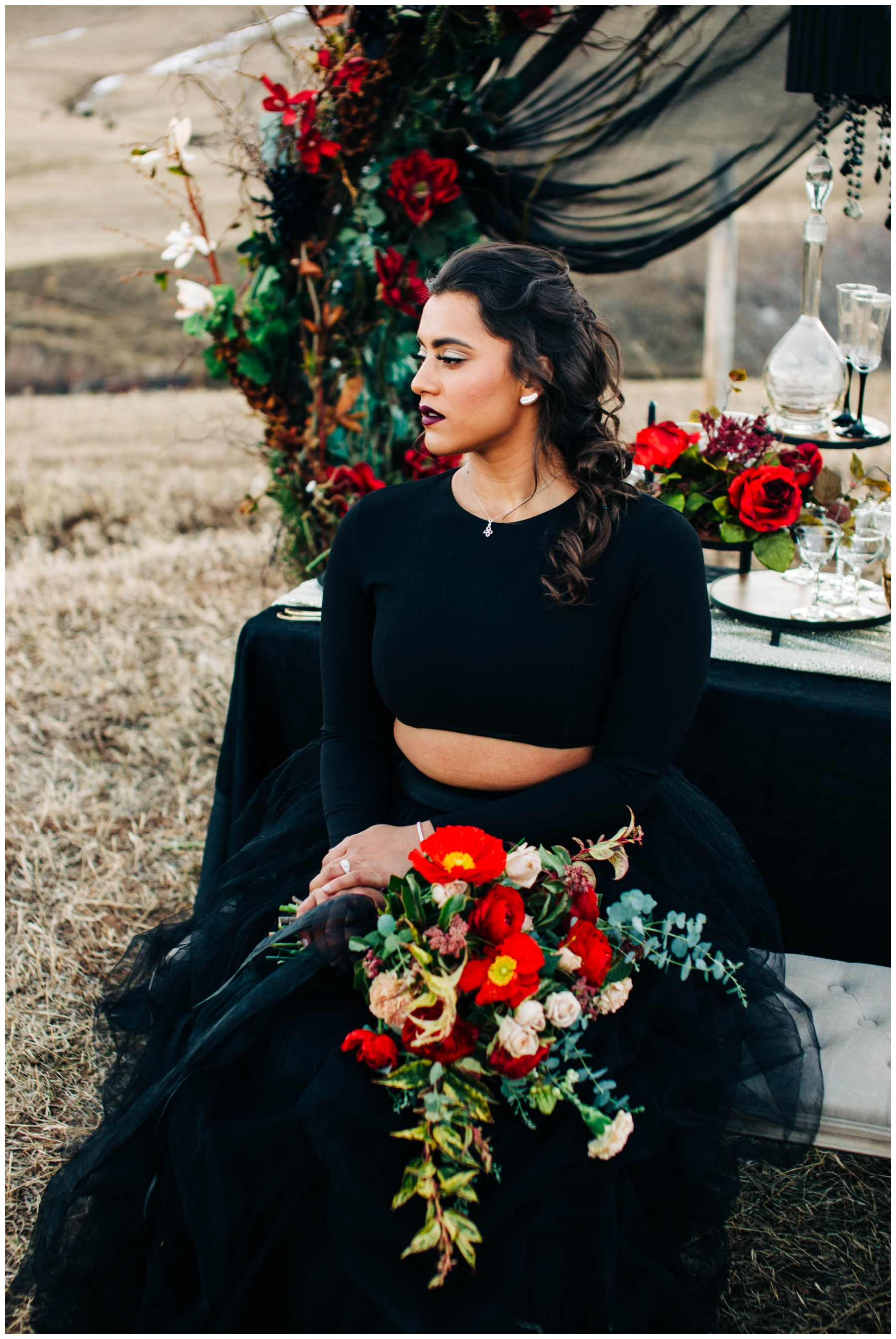 black-wedding-dress-big-island-photographer