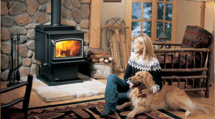 Regency® Classic™ F3100 Wood Stove - An impressive wood stove providing and amazing wide fire view and up to 80,000 BTU, capable of heating an entire home.