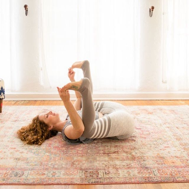 ✨HAPPY BABY ✨  Let's talk about how delicious yoga can be!  There are some poses that wash a feeling of openness and (dare I say it) transcendence over me. This is definitely one of those poses.  Perhaps, It's so enjoyable because it releases the sacrum while opening up my hips. Or maybe it's because it unlocks the 2nd chakra, which provides a sense of belongingness, pleasure, and intimacy. Most likely both! All I know is that after a few breaths in this pose I feel satisfied, centered, and complete. It's the yummiest cure to a busy day. ⠀⠀⠀⠀⠀⠀⠀⠀⠀ Treat yourself this evening, and try it before you hop into bed. Here are some helpful cues to get you into it: ⠀⠀⠀⠀⠀⠀⠀⠀⠀ Lie on your back. With an exhale bend your knees to the outside of your ribs. ⠀⠀⠀⠀⠀⠀⠀⠀⠀ With an inhale, capture the backs of your thighs or the outer edges of your feet( just be sure to keep your low back and sacrum on the floor to receive all the benefits). ⠀⠀⠀⠀⠀⠀⠀⠀⠀ Check that each ankle is placed directly over your knees. ⠀⠀⠀⠀⠀⠀⠀⠀⠀ Hold for 10- 15 deep breaths